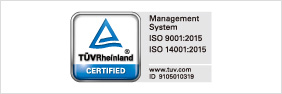 Management System ISO 9001:2015 ISO 14001:2015バナー